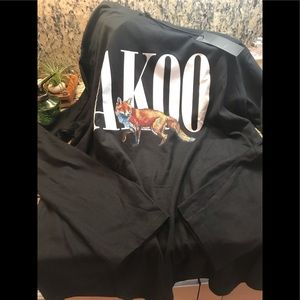 AKOO BLACK LONG SLEEVE TEE NEW